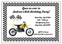 Dirt Bike Birthday Party Invitations Yellow