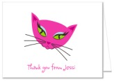 Diva Kitty Cat Birthday Party Thank You Note Cards Personalized