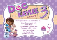 Doc McStuffins Birthday Party Invitations