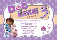 Doc McStuffins Birthday Party Invitations