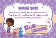 Doc McStuffins Thank You Cards Personalized