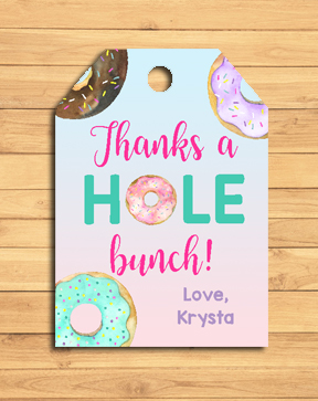 Donut Birthday Party Gift Tags