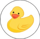 Rubber Ducky Round Envelope Seals Labels