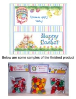 Easter Bunny Party Bag Toppers Favors w/Recloseable Bags