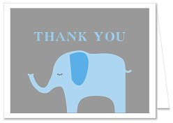 Elephant Boy Baby Shower Thank You Note Cards
