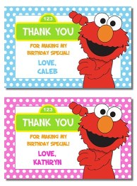 Elmo Birthday Party Gift Tags