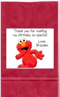 Elmo Birthday Party Goodie Loot Bag Labels