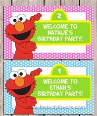 Elmo Birthday Party Sign
