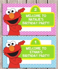 Elmo Birthday Party Sign
