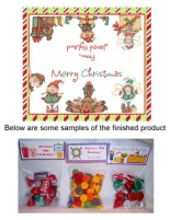 Christmas Elf Elves Party Bag Toppers Favors w/Recloseable Bags