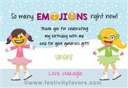 Emoji Ice Skating Thank You Cards