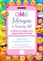 Emoji Party Birthday Invitations