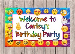 Emoji Birthday Party Sign
