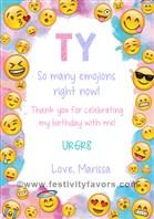 Emoji Thank You Cards