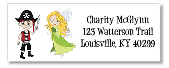 Fairy and Pirate Return Address Labels