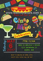 Cinco de Mayo Fiesta Party Invitations