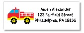 Fire Truck Return Address Labels