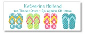 Flip Flops Pool Party Return Address Labels