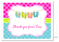 Flip Flops Party Thank You Note Cards