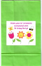 Butterfly Flowers Birthday Party Personalized Goodie Loot Bag Labels