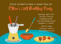 Fondue Party Invitations