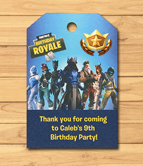 Fortnite Birthday Party Gift Tags