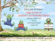 Frog Birthday Party Invitations