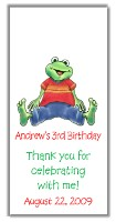 Frog Birthday Mini Candy Wrappers Favors