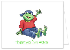 Frog Thank You Note Cards