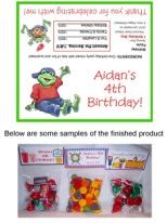 Frog Birthday Party Bag Toppers Favors w/Recloseable Bags