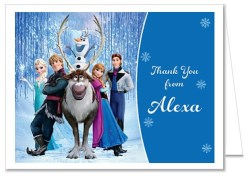 Frozen Birthday Thank You Note Cards