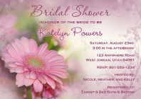 Gerbera Daisy Bridal Shower Invitations