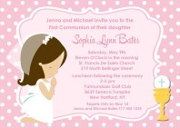First Holy Communion Girl Invitations