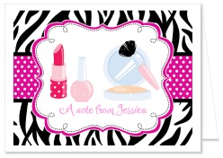 Glamour Girl Makeover Birthday Thank You Note Cards