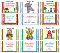 Kindergarten Preschool Graduation Mini Candy Wrappers Favors
