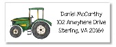 Green Tractor Return Address Labels