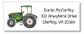 Green Tractor Return Address Labels