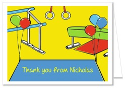 Gymnastics Thank You Note Cards