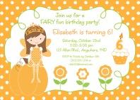 Halloween Fairy Princess Party Invitations