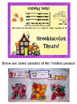 Halloween Haunted House Witch Party Bag Favors