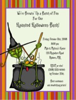 Halloween Party Witches Brew Invitations