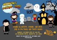 Halloween Kids Costume Party Invitations