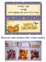 Halloween Pumpkins Party Bag Favors Toppers