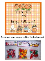 Halloween Cute Kids Party Bag Favors Toppers