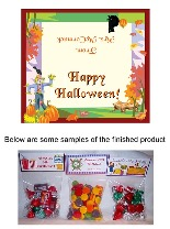 Halloween Scarecrow Party Bag Favors Toppers
