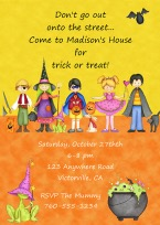 Halloween Kids Party Invitations