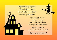 Halloween Party Wicked Witch Invitations