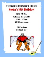 Hockey Birthday Party Invitations