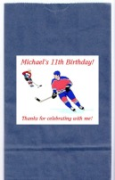 Hockey Birthday Party Goodie Loot Bag Labels Favors