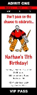 Hockey Birthday Party Ticket Invitations